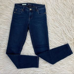 Kut from the Kloth Mia Toothpick skinny jeans dark